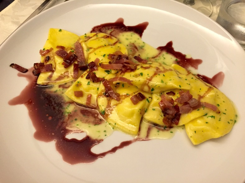 king crab tortellini at Antica Torretta