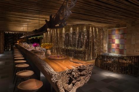 Interior - Kebun - Long Wood Table and Dyak Naga