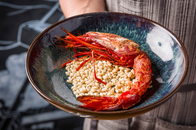 Tipsy - Blistered Spanish Red Prawn in sake and sesame oil 9